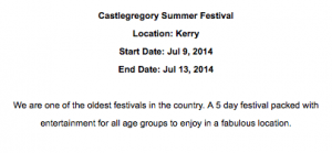 Castlegregory festival Details from Kerry