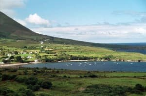 Kells Beach and Harbour in County Kerry Ireland